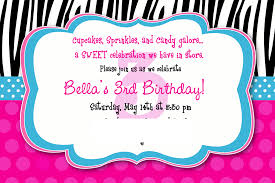18th Birthday Invitation Card 3rd Birthday Invitation Wording U2013 Gangcraft Net