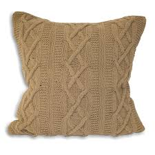 Knit Cushion Cover Pattern Cushion Cover Stylish Cable Cushion Cover Knitting Pattern
