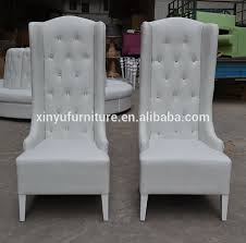 white wedding chairs 2018 fashion white wedding party high wing back chair