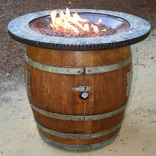 wine barrel fire table reclaimed whiskey barrel fire pit wine enthusiast barrel fire pit