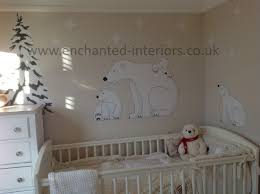 Bedroom Wall Stickers Uk Polar Bear Nursery Wall Art Sticker Scene 124 95 Www Enchanted