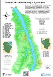 Murray State Map by Watershed Studies Institute Wsi Kentucky Lake Monitoring