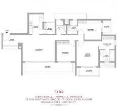 tata gurgaon gateway gurgaon gateway sector 112 113 dwarka 2 bhk floor plan