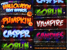 Halloween Lighting Effects Halloween Text Effects Photoshop Styles By Erasmo D U0027onorio De