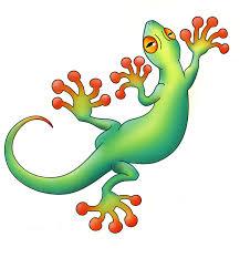 amazing colorful gecko tattoo design by swiftau