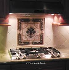 fleur de lis backsplash tile mosaic medallion mosaics art mural