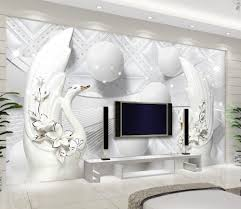 white 3d wall murals wallpaper promotion shop for promotional
