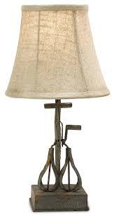 rustic metal table lamps