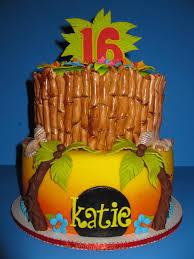 Tropical Theme Birthday Cake - tropical birthday cake