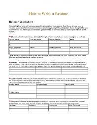 blank resume template printable high school worksheets resume builder worksheet