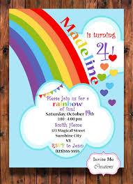 best 25 rainbow birthday invitations ideas on rainbow