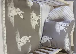 Bunny Nursery Decor Linen And Curtains For Rooms Studio Collection Fabric And