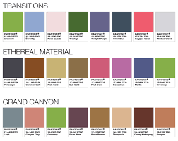 2017 Color Of The Year Pantone Pantone Color Palettes 2017 Transitions Ethereal Material
