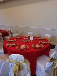 Baby Shower Table Setup by Prince Baby Shower Table Setup Red And Gold Ws Events
