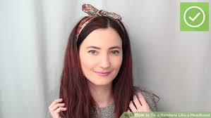 headbands that go across your forehead how to tie a bandana like a headband 11 steps with pictures