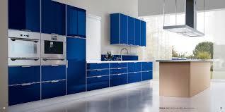 tropea kitchen design with blu grenada doors stylehomes net