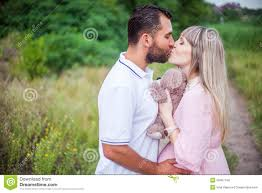Inna Husband Happy Pregnant Woman And Her Husband In The Park Stock Photo
