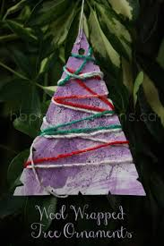 wool wrapped tree ornaments for tots happy hooligans