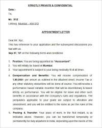 26 appointment letter templates free sample example format