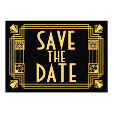 Save The Date Gatsby Save The Date Invitations U0026 Announcements Zazzle Co Uk