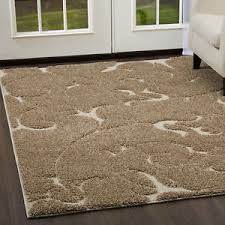 3d Area Rugs Modern Beige Cut Loop 3d Abstract Area Rug Contemporary Scrolls