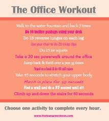 Office Workouts At Desk Fitness Friday 31 Office Desks Office Workouts And Workout