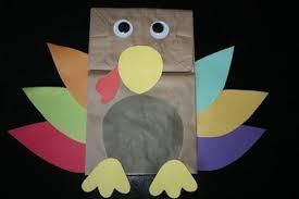 preschool crafts for thanksgiving turkey paper bag cra