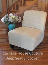 slipper chair slipcover suede slipcover for slipper chair armless chair accent chair gray