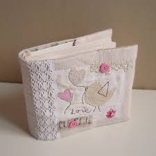 Bridal Shower Photo Album Roxy Creations Antique Linen Bird Applique Photo Album