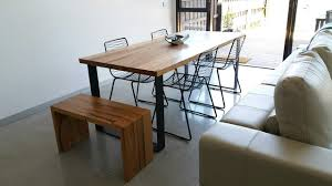 Reclaimed Timber Dining Table Bessie Dining Table With Contrast Box Legs By Retrograde Furniture