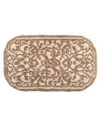Damask Bath Rug Graccioza Damask Bath Rug