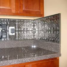 Metal Backsplash Material  Awesome Kitchen Backsplash Options - Metal kitchen backsplash