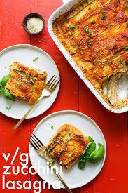 vegan gluten free zucchini lasagna minimalist baker recipes
