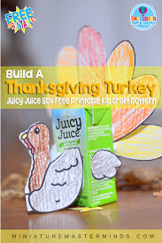 build a thanksgiving turkey with recycled juice box free