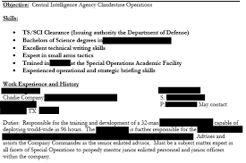 Military Intelligence Resume Insecure How A Private Military Contractor U0027s Hiring Files Leaked