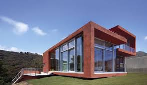 Home Design And Lighting by Exteriors Elegant Red Contemporary House With Sleek Brick Wall
