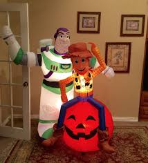 Airblown Halloween Inflatables by Image Gemmy Prototype Halloween Toy Story Woody Buzz Lighyear