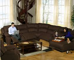 small brown sectional sofa elegant living room ideas with wooden spiral staircase using brown