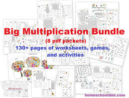 multiplication facts packet 25 pages homeschool den