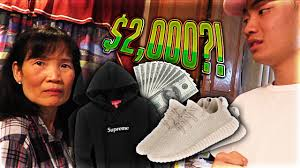 mom freaks out at me for buying yeezys and a 1000 hoodie live