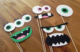 Halloween Photo Booth Props Monster Photo Booth Prop Set Party Wedding Birthday Engagement