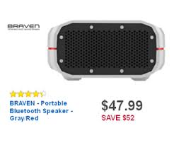 black friday bluetooth speaker deals 47 99 braven portable bluetooth speaker gray red deal at best buy