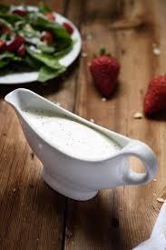 spinach salad dressing healthy yogurt poppyseed dressing
