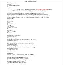 33 letter of intent templates free word sample documents