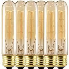 kingso 10 pack e26 e27 vintage edison light bulbs 60w 110v t10