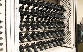 wall mount gun hangers weapons storage spacesaver corporation
