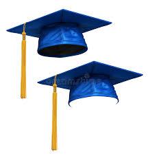 blue graduation cap 3d render of blue graduation cap stock illustration illustration