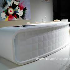 Corian Reception Desk China Corian Acrylic Solid Surface Furniture Carved Reception Desk