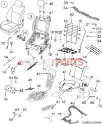 12791602 saab seat position sensor airbag seat rail genuine