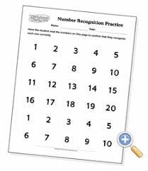 number recognition sheets worksheetworks com
